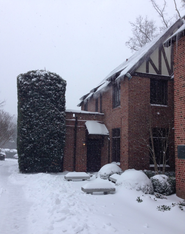 Snow at the Westhampton College Deanery