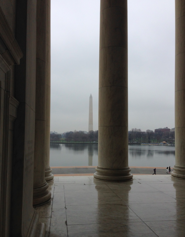 Starting off the year with a quick trip to DC! Here's the view from the Jefferson Monument
